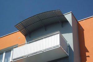 Oblá strecha, trapézový plech