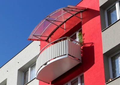 Oblá střecha, polykarbonát