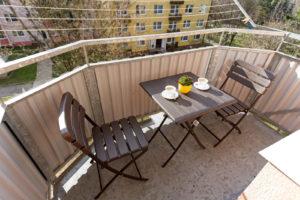 Balkónový skladací nábytok