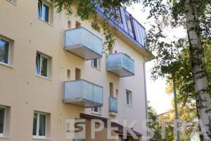 Závesný balkón NORMAL sklo