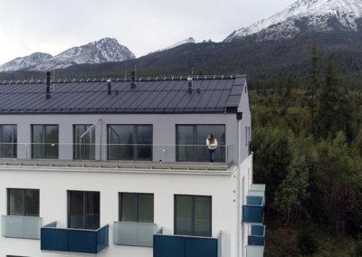Balkóny prevedenie výplne bezpečnostné sklo